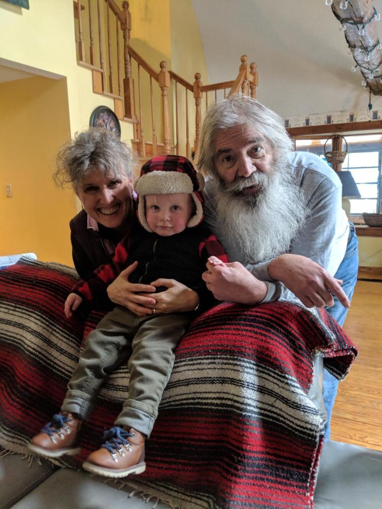 Kathie & John with Elliott